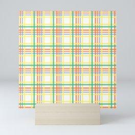 Pastel plaid pattern Mini Art Print