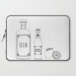 Gin tonic and lime illustration Laptop Sleeve