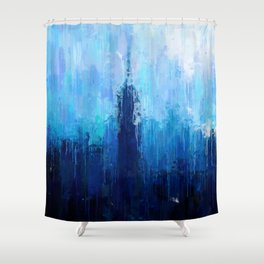Empire State Building - New York City - Cityscape Wall Art, Poster, Impressionism Paintings, Prints Shower Curtain