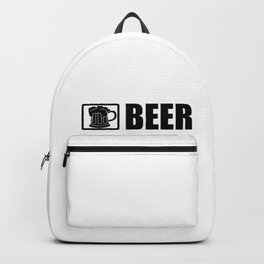Beer Bikes Dogs For Motorcycle Rider Dog And Beer Lover Backpack