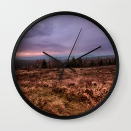 Sunset colours Wall Clock