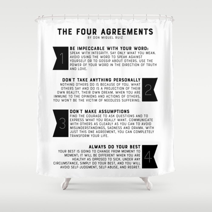 The Four Agreements by don Miguel Ruiz Duschvorhang
