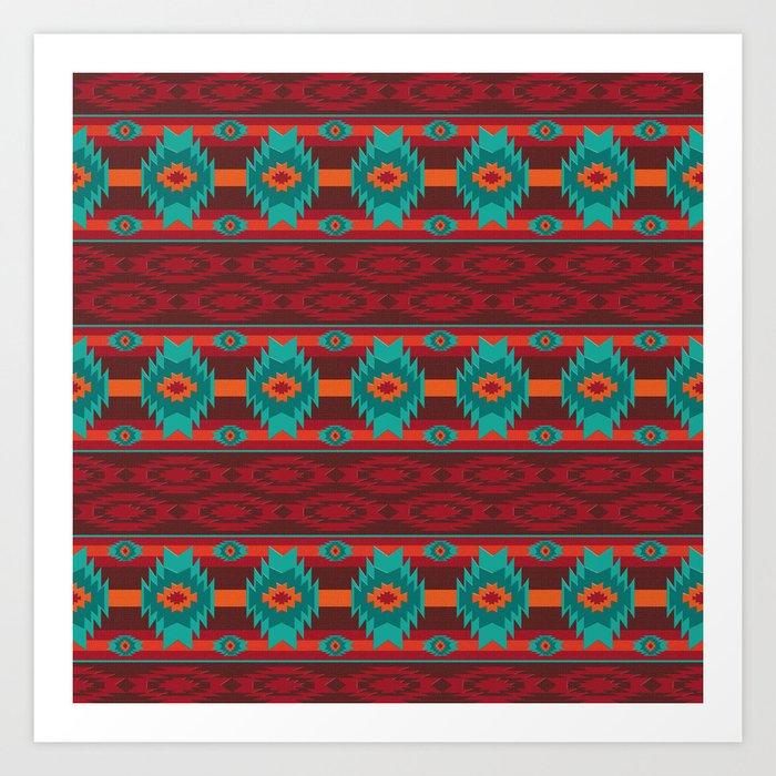 Southwestern navajo tribal pattern. Kunstdrucke