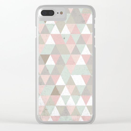 Shabby chic triangles Clear iPhone Case