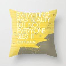 Confucius Quote Throw Pillow