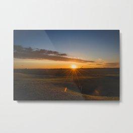Summer Solstice Sunset, North Dakota 1 Metal Print