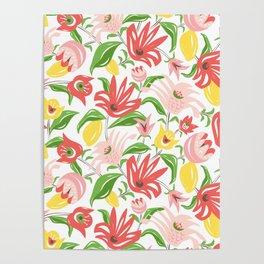 Island Garden Floral Poster