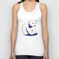 polar bear Tank Tops featuring Polar bear by Michelle Behar