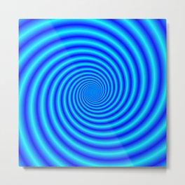 The Swirling Blues Metal Print
