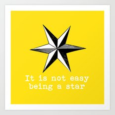 Star vintage inspired Art Print