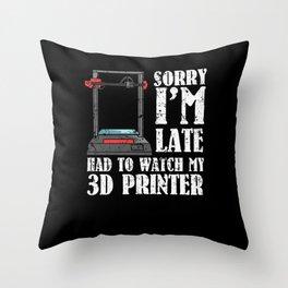 3D Printer 3d Print Nerd 3d Tool Software Throw Pillow