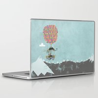 brompton Laptop & iPad Skins featuring Riding A Bicycle Through The Mountains by Wyatt Design