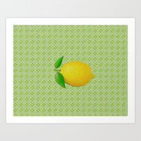 lemon Art Prints featuring Lemon by Mr and Mrs Quirynen