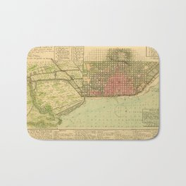 Map Of Buenos Aires 1806 Bath Mat