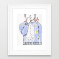 danny haas Framed Art Prints featuring Danny by Andrea Schoedel