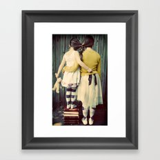 Two Girls Framed Art Print