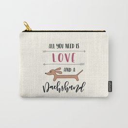 All You Need is Love and a Dachshund Carry-All Pouch