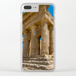 Temple ruined in Greece Clear iPhone Case