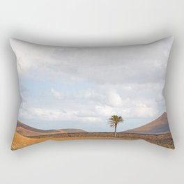 Lanzarote Palm tree landscape Rectangular Pillow