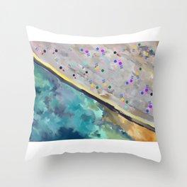 Clovelly Beach  Throw Pillow