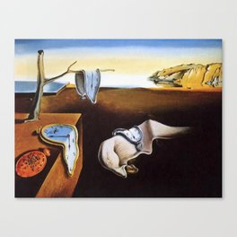 The Persistence Of Memory Painting By Salvador Dali Canvas Print