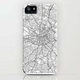 Dublin Map White iPhone Case