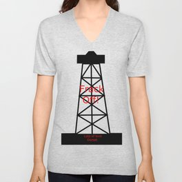 Frack Off (lots of love) Unisex V-Neck