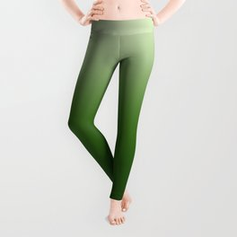 Tropical Green Gradient Leggings