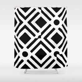 cross patterns Shower Curtain