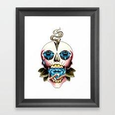 Diamond Skull Framed Art Print