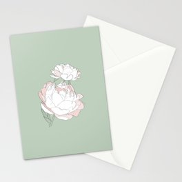 PEONIA - GREEN LILY - Sorbetedelimón Stationery Cards