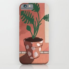 Split Leaf Philodendron in the Sun iPhone Case