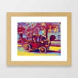 Senator Wetmore   Wife in Horseless Carriage  Krieger Electric Landaulet Framed Art Print