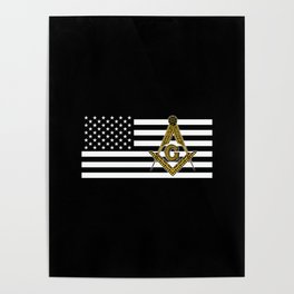 Freemason Flag Poster