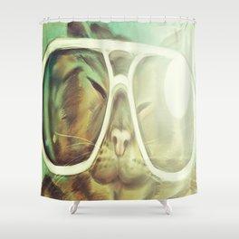 Cat Selfie Shower Curtain