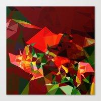 polygon Canvas Prints featuring polygon chaos by Matthias Hennig
