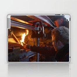 Fixed brake on a steam locomotive Laptop & iPad Skin