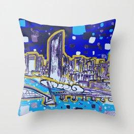 Brisbane City Art Print Throw Pillow