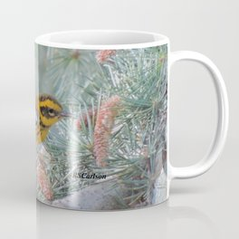 A Townsend's Warbler Spruces Up Coffee Mug