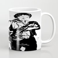 daryl dixon Mugs featuring Daryl Dixon by Black And White Store