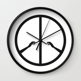 Peace struggle Wall Clock