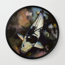 Utsuri Koi Reflections Wall Clock