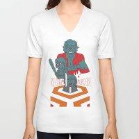 dramatical murder V-neck T-shirts featuring REDRUM//MURDER by Derek Eads
