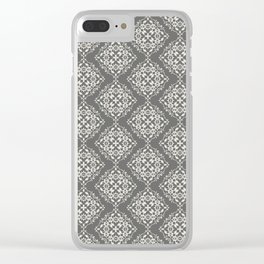 Damask Pattern IV Clear iPhone Case