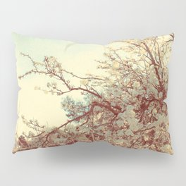 Hello Spring! (White Cherry Blossom by the Lake) Pillow Sham