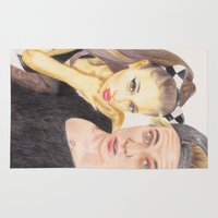 ariana grande Area & Throw Rugs featuring Ariana and Justin by Share_Shop