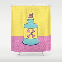 drink Shower Curtains featuring Drink Up by erinpantz