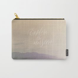 Motivational Typography And Scenic View Carry-All Pouch