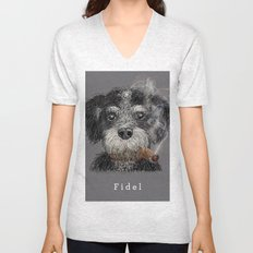 Fidel - The Havanese is the national dog of Cuba Unisex V-Neck