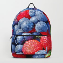 starwberries and blueberries Backpack